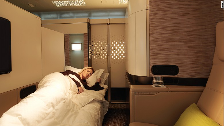 Airplane beds that really let you sleep