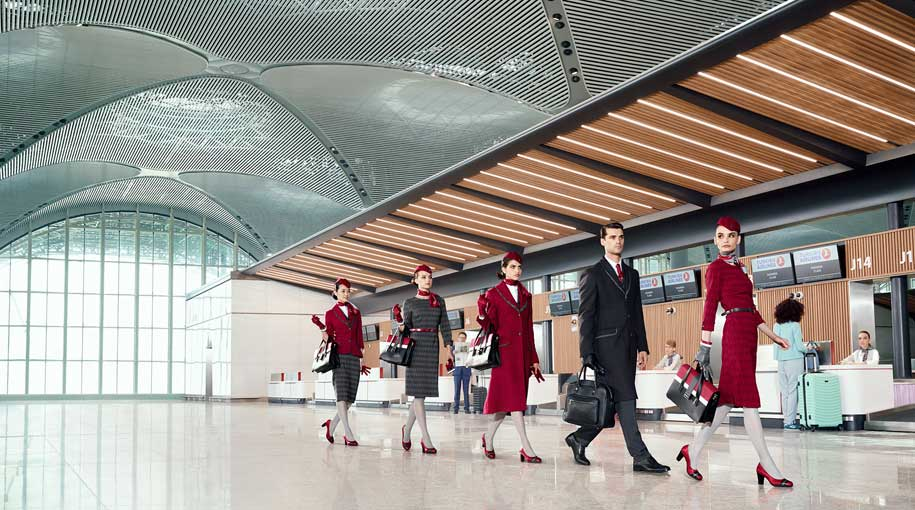 Turkish airlines unveil new cabin crew uniform