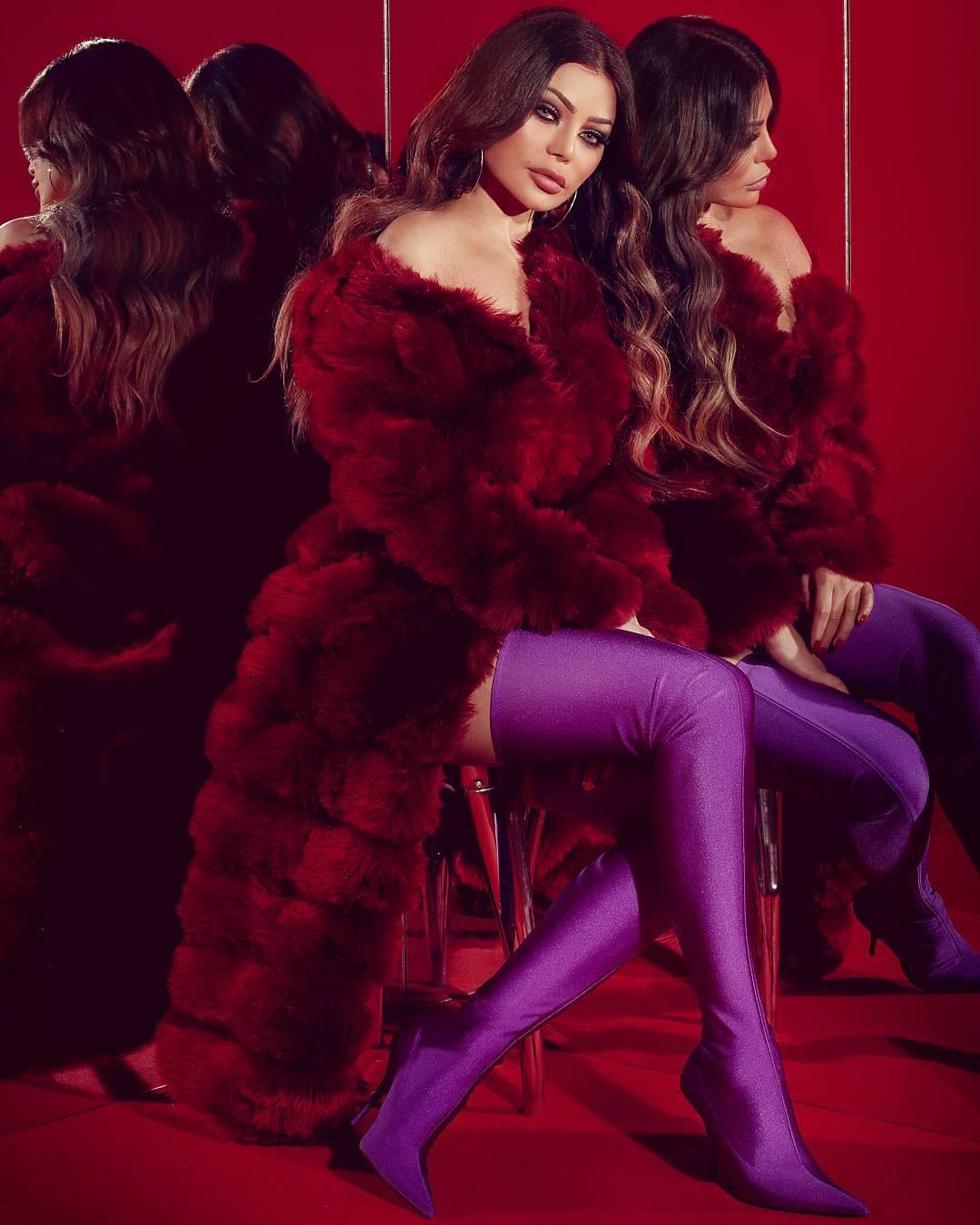 Pictures of Lebanese singer Haifa Wehbe