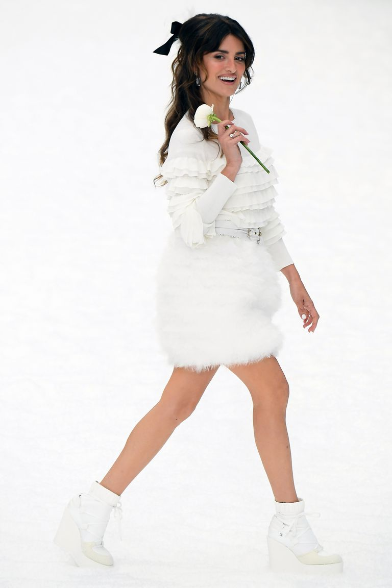 Penelope Cruz on the catwalk for Chanel