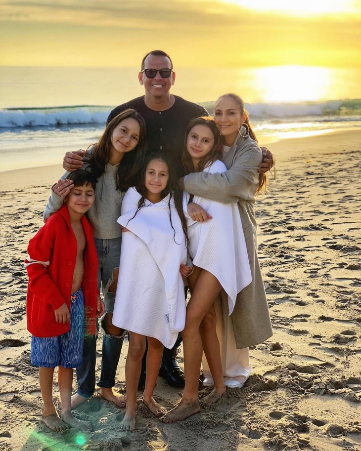 Jennifer Lopez and Alex Rodriguez family pictures