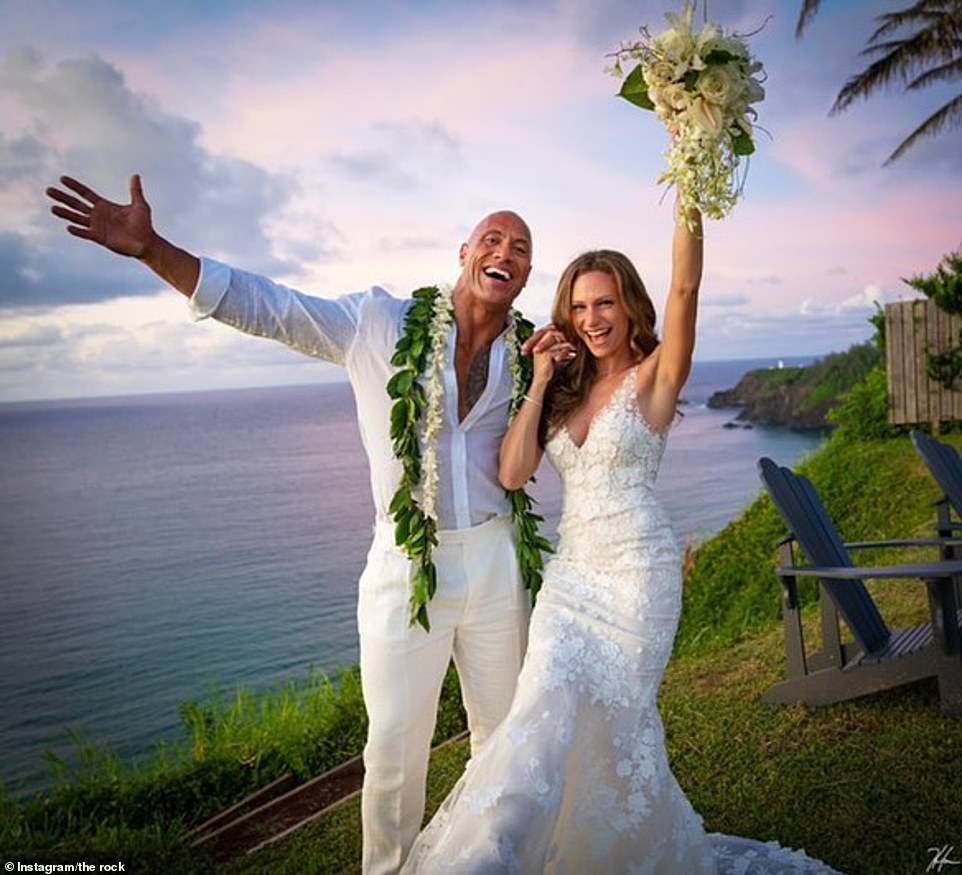 The Rock marries long-term girlfriend in Hawaii