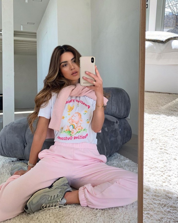 Iranian infuencer Negin Mirsalehi's life at home